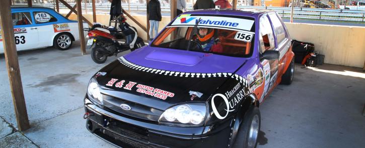 Carin Kotze a racing car driver, takes part in the circuit races at Killarney International Raceway. Photo: Bertram Malgas