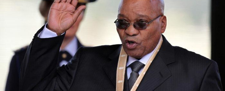 FILE: South Africa's newly elected President Jacob Zuma takes an oath during his inauguration at the Union Buildings in Pretoria on 9 May 2009. Picture: AFP.