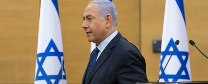 FILE: Israel's former Prime Minister Benjamin Netanyahu arrives at the Knesset, the Israeli Parliament, to deliver a political statement in Jerusalem, on 30 May 2021. Picture: Yonatan Sindel/AFP