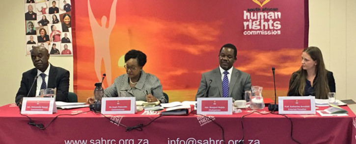 A South African Human Rights Commission panel. Picture: Katleho Sekhotho/EWN