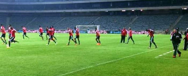 FILE: Orlando Pirates during a pre-match warm-up. Picture: Twitter via @Orlando_Pirates.