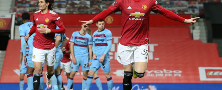 Manchester United's Scott McTominay celebrates his goal against West Ham United during their FA Cup match on 9 February 2021. Picture: @ManUtd/Twitter