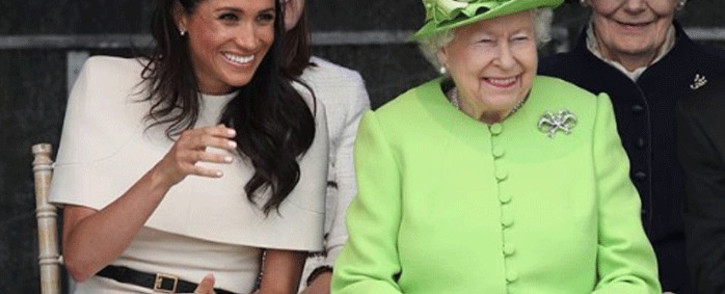 FILE: The Duchess of Sussex and Queen Elizabeth watched schoolchildren perform in Cheshire on 15 June 2018. Picture: kensingtonroyal/instagram.com