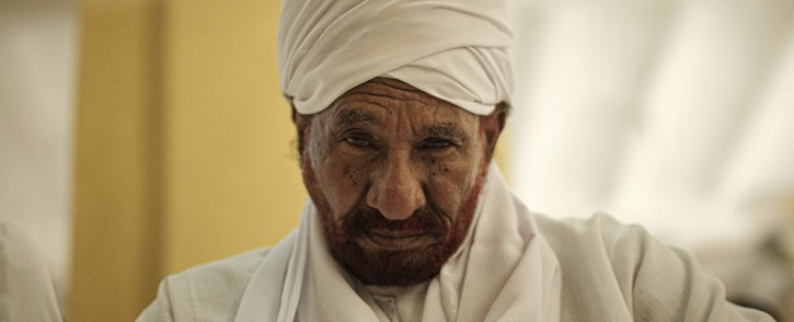 FILE: Sudanese top opposition leader and former premier Sadiq al-Mahdi attends Friday prayers at a mosque linked to his National Umma Party in Khartoum's twin city of Omdurman on 14 June 2019. Picture: AFP.