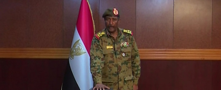A grab from a broadcast on Sudan TV shows Lieutenant General Abdel Fattah al-Burhan Abdulrahman taking oath on 12 April 2019 as chief of the new military council, in the capital Khartoum. Picture: AFP