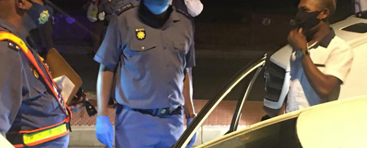 Police acted on information that two popular restaurants one in Sandton and the other in Silverton, Pretoria, were selling alcohol to customers against level 3 lockdown regulations. Picture: @SAPoliceService/Twitter