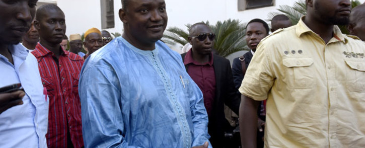 Gambian president Adama Barrow. Picture: AFP.