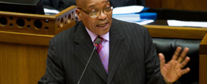 FILE: President Jacob Zuma answers questions in parliament. Picture: Sapa.