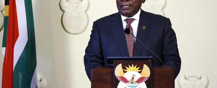 FILE: President Cyril Ramaphosa gives a press conference at the Union Buildings on 21 July 2019 in Pretoria. Picture: GCIS.