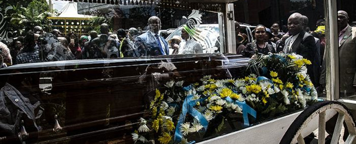 FILE: Thorisho Themane's casket at his funeral. Picture: Kayleen Morgan/EWN