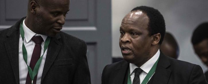Daniel Mantsha and Muzi Sikhakhane, both representing former President Jacob Zuma, at the state capture commission on 17 July 2019. Picture: Abigail Javier/EWN.