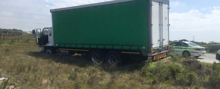 FILE: A hijacked truck. Picture: @SAPoliceService/Twitter