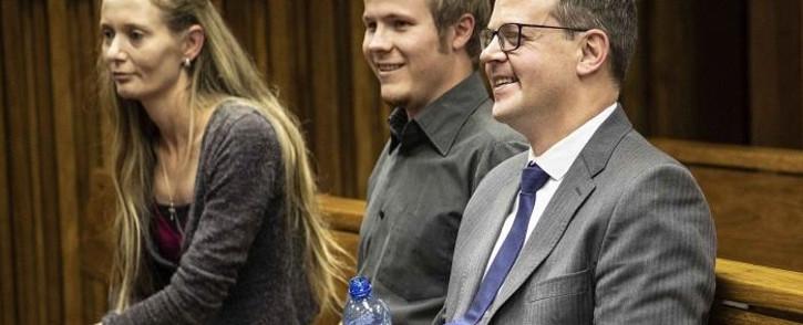 AfriForum's Ernst Roets (R) in Johannesburg High Court. An urgent application against Roets that found him in contempt of court was dismissed. Picture: Abigail Javier/EWN