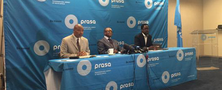 The Chairman of the Prasa Board, Popo Molefe, on the Public Protector report on 3 September 2015. Picture: Gia Nicolaides/EWN.