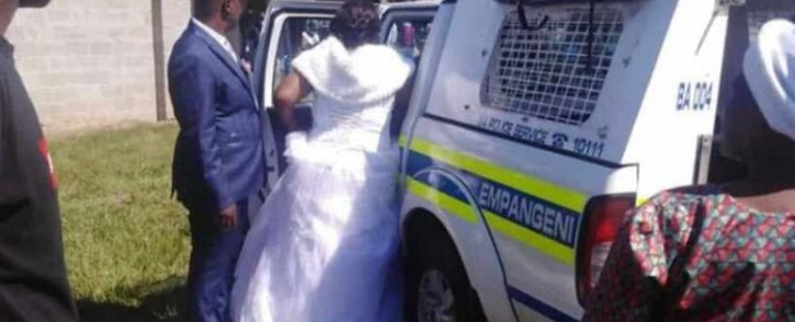 KZN police on 5 April 2020 arrested 50 people who were attending a wedding at eNseleni outside Richards Bay in KwaZulu-Natal for failing to comply with the national lockdown regulations. Picture: Supplied.