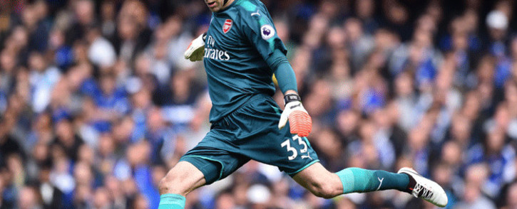 FILE: Arsenal goalkeeper Petr Cech takes a kick during the English Premier League football match between Chelsea and Arsenal at Stamford Bridge in London on 17 September 2017. Picture: AFP