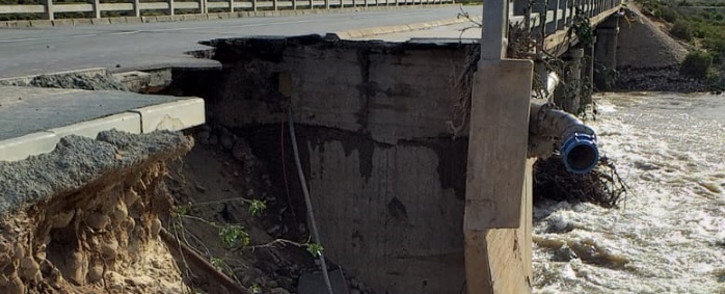 The Zwelethemba Bridge damaged by flooding. Picture: Provincial Disaster Management Centre