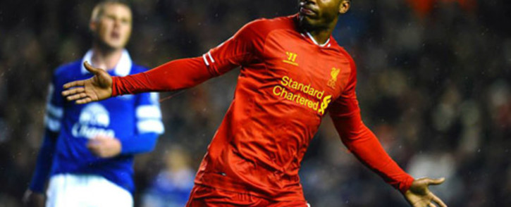 Liverpool forward, Daniel Sturridge celebrates his goal against Everton in the English Premier League on 28 January 2014. Picture: Facebook.