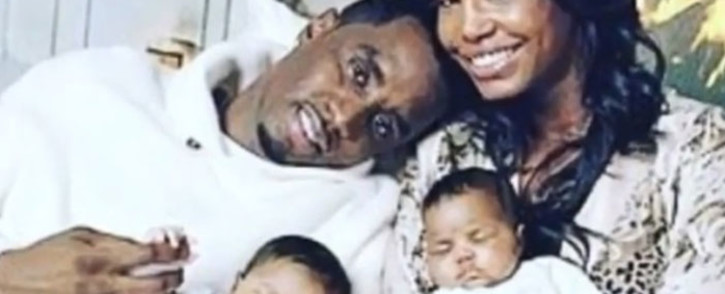 A video screengrab shows Sean 'Diddy' Combs and his ex-girlfriend Kim Porter shortly after their twins were born. Picture: instagram.com