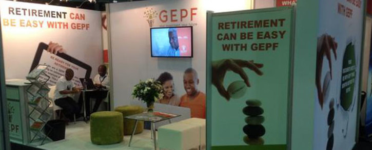 A Goverment Employee Pension Fund stand. Picture: @GEPF_SA/Twitter