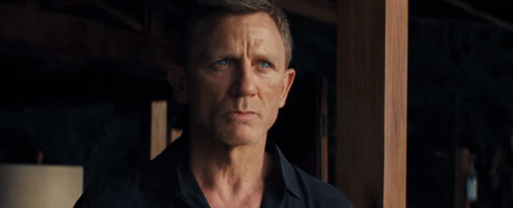 A screenshot of Daniel Craig in the new James Bond movie, 'No time To Die'.