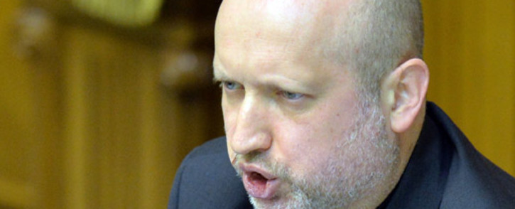 Parliament Speaker and newly-appointed interim president of Ukraine, Olexandr Turchynov, speaks during a session at the Parliament in Kiev on 23 February, 2014. Picture: AFP.