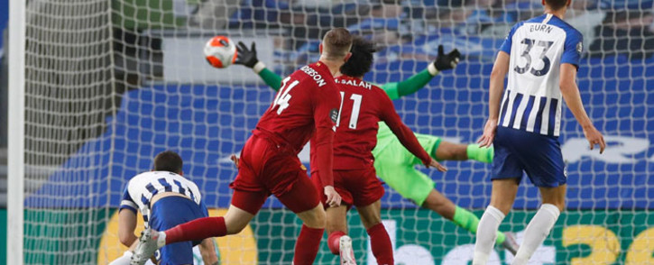 Liverpool's Jordan Henderson scores a goal against Brighton during their English Premier League match on 8 July 2020.Picture: @LFC/Twitter