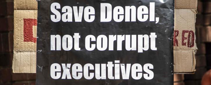 Numsa marched to the Public Enterprises Ministry in Pretoria to demand government save Denel. Picture: Abigail Javier/EWN