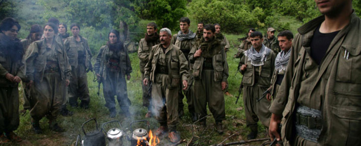 FILE: Kurdistan Workers' Party (PKK) fighters in the northern Iraqi city of Dohuk. Picture: AFP.