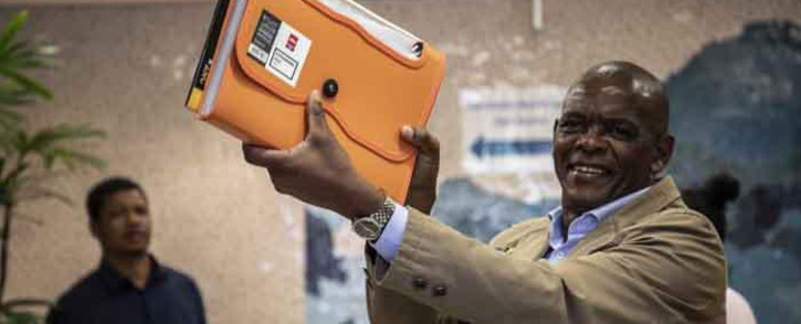 ANC secretary general Ace Magashule arrives at the IEC's head offices in Centurion, Tshwane, to submit the governing party's election candidates list. Picture: Abigail Javier/EWN