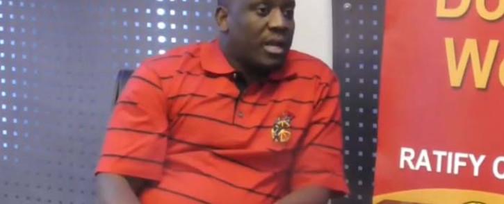 A screengrab of Cosatu spokesperson Sizwe Pamla. Picture: YouTube.