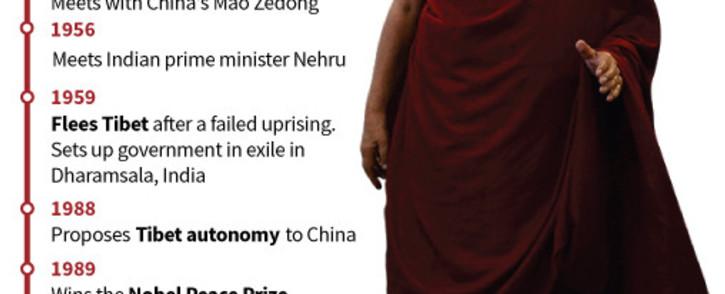 FILE: The Dalai Lama. Picture: AFP.