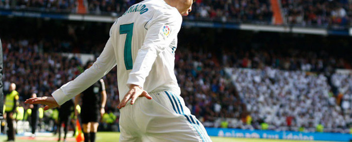 FILE: Real Madrid's Cristiano Ronaldo celebrates a goal. Picture: @realmadriden/Twitter