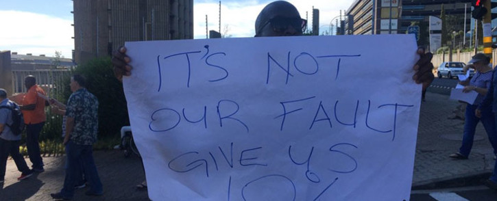Striking SABC workers wanted a 10% salary increase. Picture: Mia Lindeque/EWN