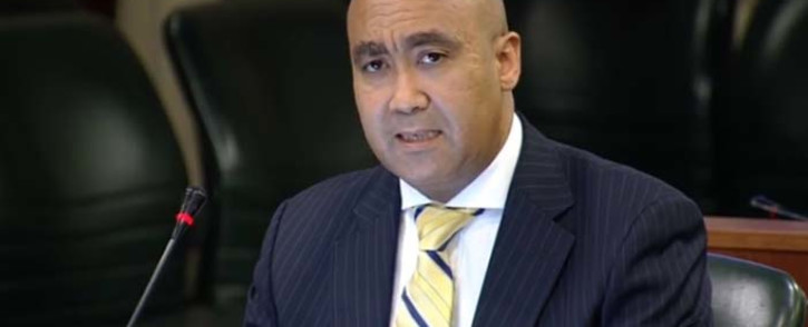 A screengrab of National Director of Public Prosecutions Shaun Abrahams addressing MPs about the Estina Dairy Farm probe. Picture: YouTube.