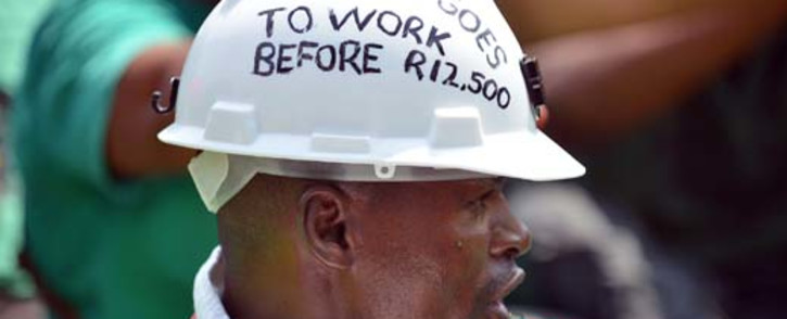 A miner's support committee says society is widely in agreement with the platinum strike. Picture: AFP.