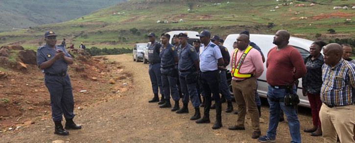 The Eastern Cape police team that rescued a 16-year-old girl who had apparently been forced to marry a man. Picture: @SAPoliceService/Twitter