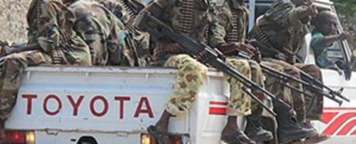 Somali soldiers patrolling Mogadishu on 04 August 2011. Picture: Nathan Adams/EWN