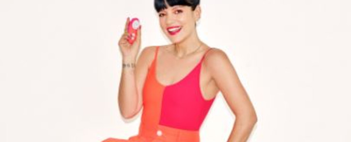 Singer Lily Allen has a sponsorship deal with Womanizer to promote their sex toys. Picture: Twitter/@womanizerglobal