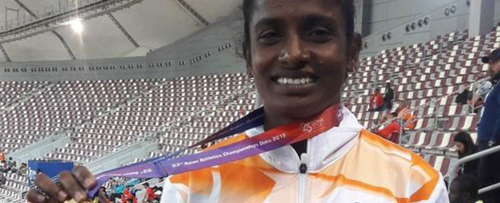 Indian 800m athlete Gomathi Marimuthu. Picture: @GomathiMarimutu/Twitter