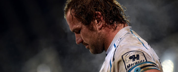FILE: Montpellier's South African prop Jannie Du Plessis looks on during the French Top 14 match between Castres and Montpellier, at the Pierre Antoine stadium in Castres southern France, on 28 January 2017. Picture: AFP