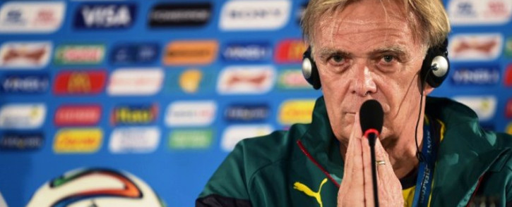 Cameroon coach Volker Finke. Picture: AFP.