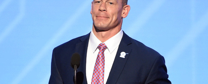 Actor/wrestler John Cena speaks onstage at The 2017 ESPYS at Microsoft Theater on 12 July 2017 in Los Angeles, California. Picture: Getty Images/AFP