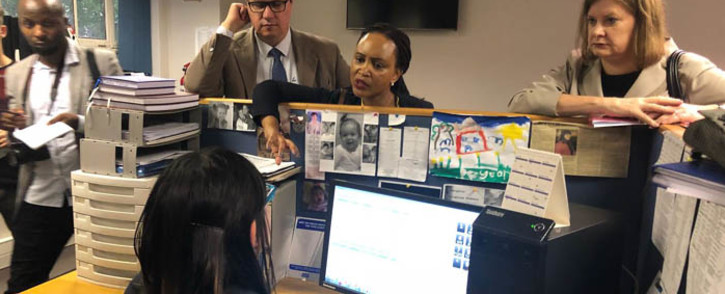 DA Shadow Minister of Basic Education Ian Ollis and Education MEC Debbie Schafer visiting the Western Cape Education Department's Safe Schools call centre. Picture: @Our_DA/Twitter.