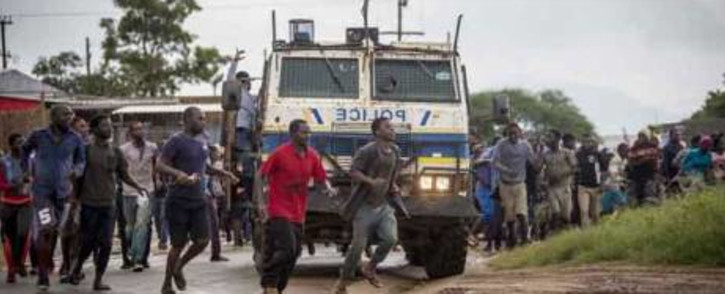 FILE: Residents in Vuwani protest. Picture: EWN.