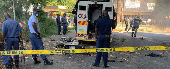Police shot and killed four alleged cash-in-transit robbers in Katlehong, on the East Rand, on 22 January 20021. Picture: SAPS.