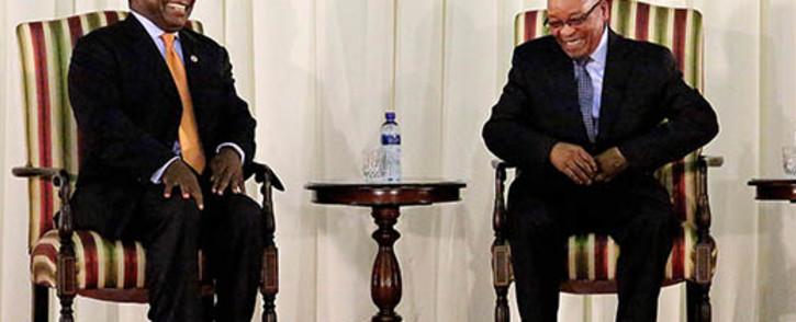 President Jacob Zuma and Deputy President Cyril Ramaphosa. Picture: Sebabatso Mosamo/EWN