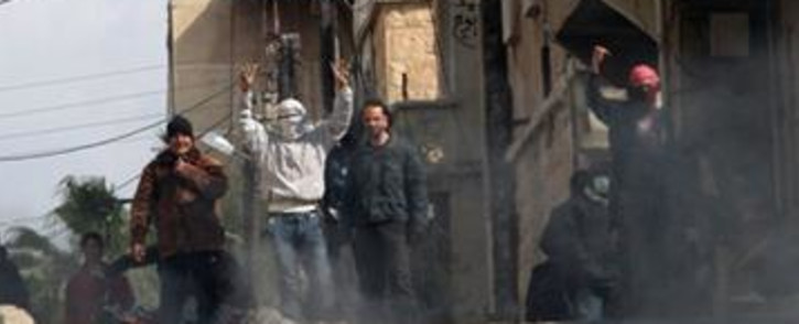 Anti-government activists in Syria. Picture: AFP