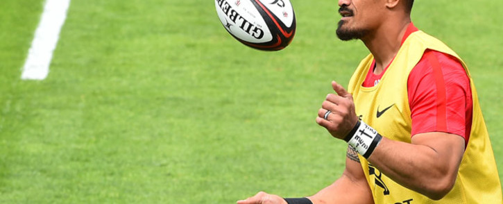 FILE: Toulouse flanker Jerome Kaino takes part in a training before the French Top 14 rugby union match between Castres and Toulouse (Stade Toulousain) at Pierre Fabre Stadium in Castres, southern France, on 27 April 2019. Picture: AFP