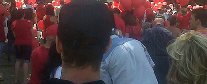 White South Africans take part in a Red October march in Pretoria. Picture: Twitter
